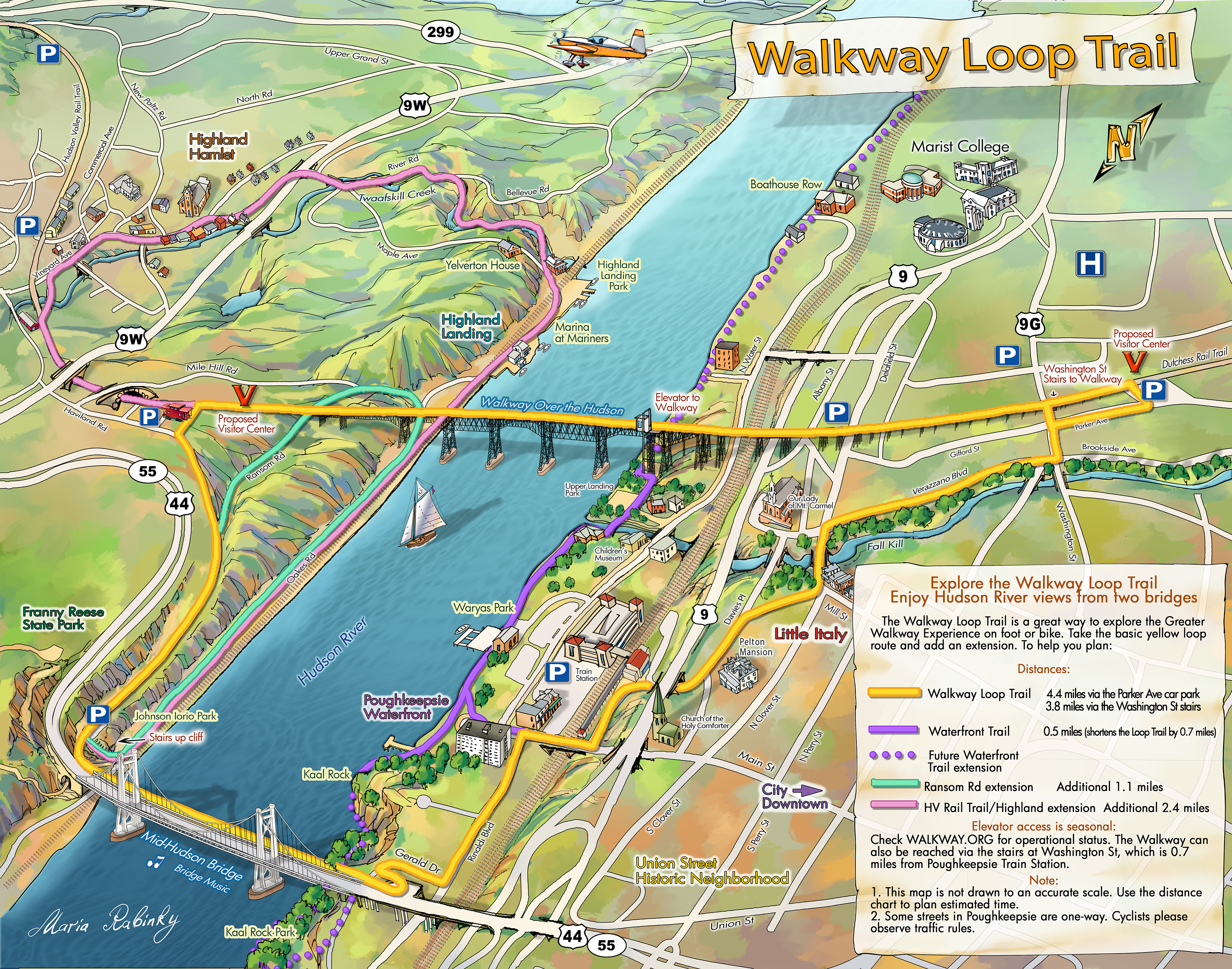 Loop Trail Insert_Poughkeepsie_Illustrated-map-Feb 2017