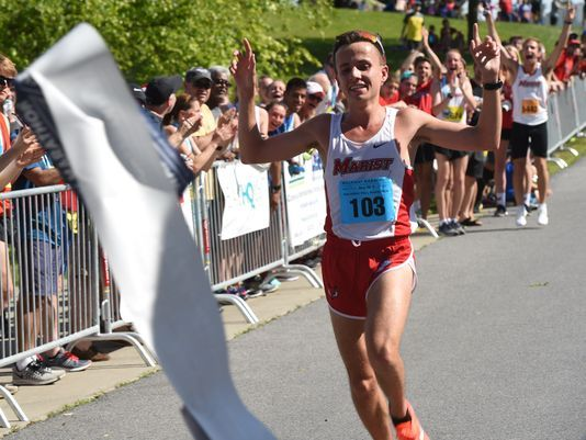 Spencer Johnson 2017 Walkway Marathon winner Alex Wagner - Poughkeepsie Journal