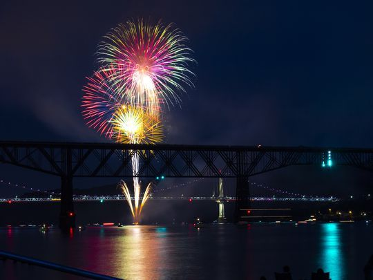 Walkway Fireworks - credit Andrew Shea - Poughkeepsie Journal courtesy photo