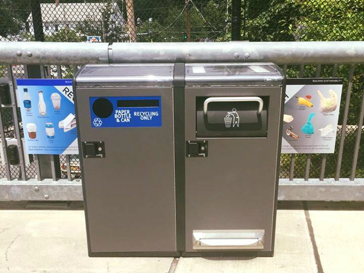 Big Belly solar trash compactor and recycling